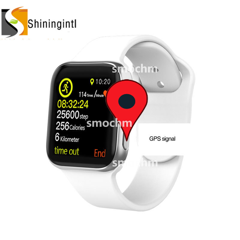 Smochm IWO 10 Bluetooth Smart Watch Series 4 1:1 IWO 8 Plus IWO 9 Updated GPS Tracker Sports Smartwatch For Apple iPhone Android-in Smart Watches from Consumer Electronics    1