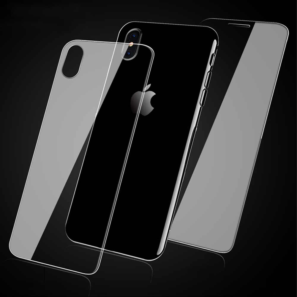 For iphone XS MAX XR x 6 7 8 back tempered glass  iphone 10 6 7 8 plus 5s 5c se 4 4S screen protector front and back glass