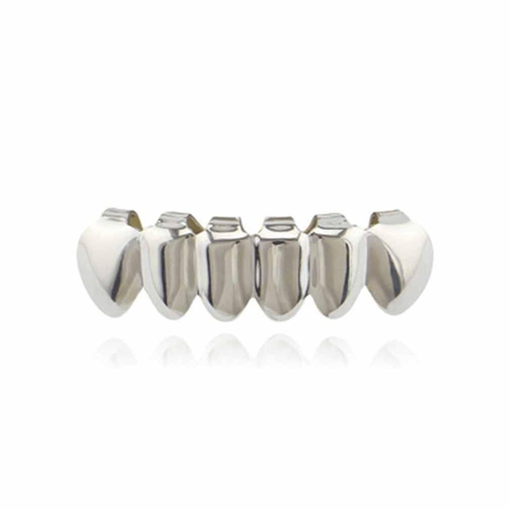 NewXHYT1015 однотонный набор зубов в стиле хип-хоп, набор электропластин, открытые верхние нижние зубные Украшения для тела, Прямая поставка
