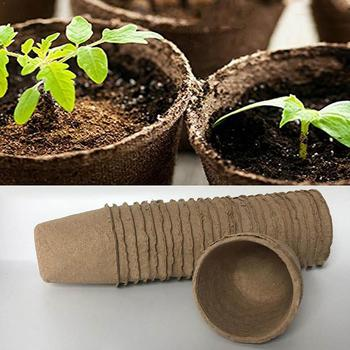 Biodegradable Plant Nursery Cup Moisture-Proof Round Paper Ecological Plant Improve Bucket Environment N8J7 image
