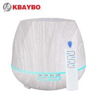 Kbaybo 550ml umidificador de ar madeira branca com controle remoto aroma difusor óleo essencial aromaterapia névoa criador fogger para casa|Umidificadores| |  -