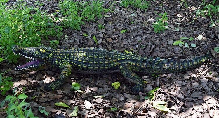 130CM gonflable animal sauvage jumbo crocodile modèle figurines jouets Simulation animal à sang froid décorer collection jouets pour enfants - 5