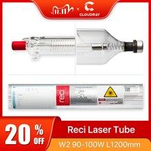 Cloudray reci w2/t2 90w diâmetro de madeira da embalagem da caixa do tubo do laser do co2 de 100w. 80mm/65mm co2 laser gravura máquina de corte s2 z2