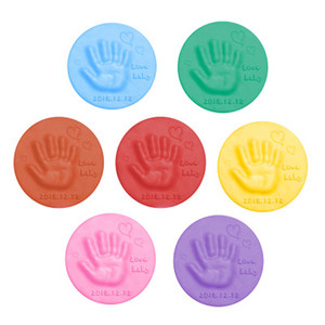 2020 Baby Care Air Drying Soft Clay Baby Handprint Footprint Imprint Kit Casting Parent-child Hand Inkpad Fingerprint 20g