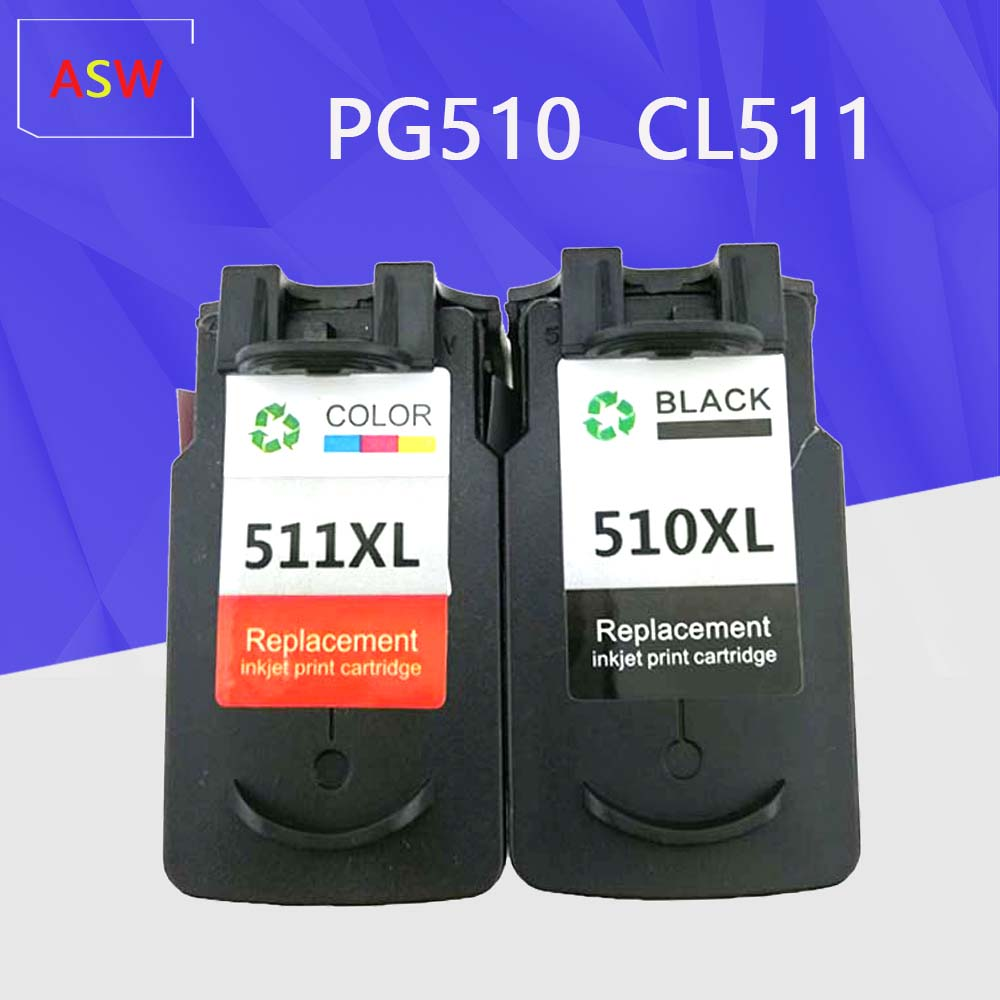 ASW PG510 CL511 <font><b>Cartridge</b></font> replacement for <font><b>Canon</b></font> PG 510 CL 511 PG-510 <font><b>Ink</b></font> cartridg for Pixma IP2700 MP240 MP250 <font><b>MP260</b></font> MP280 image