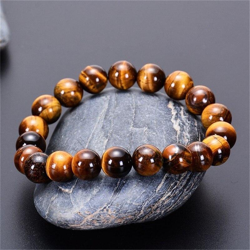 Natural Stone Tigers Eye Studs Natural Tigers Eye Stretch Bracelet and Matching Stud Earrings Tigers Eye Bracelet Gemstone Jewelry