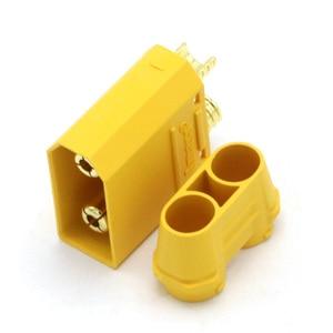 Image 5 - 100 pièces/lot Amass XT90 XT90H batterie connecteur ensemble 4.5mm mâle femelle plaqué or banane Plug (50 paire)