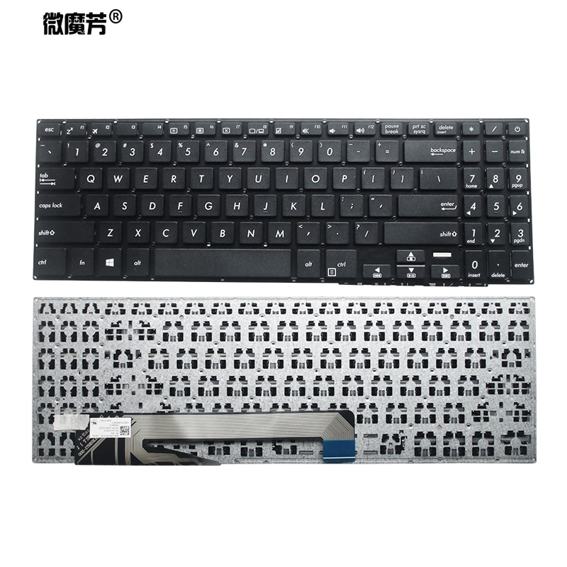 US Black New English Laptop Keyboard For ASUS YX560 YX560UD X560/UD Y5000/U/UB X507UA