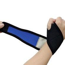 Auto-aquecimento pulseira proteção esportiva almofada de pulso profissional cinta de pulso para treino ginásio braceletes de treinamento de energia