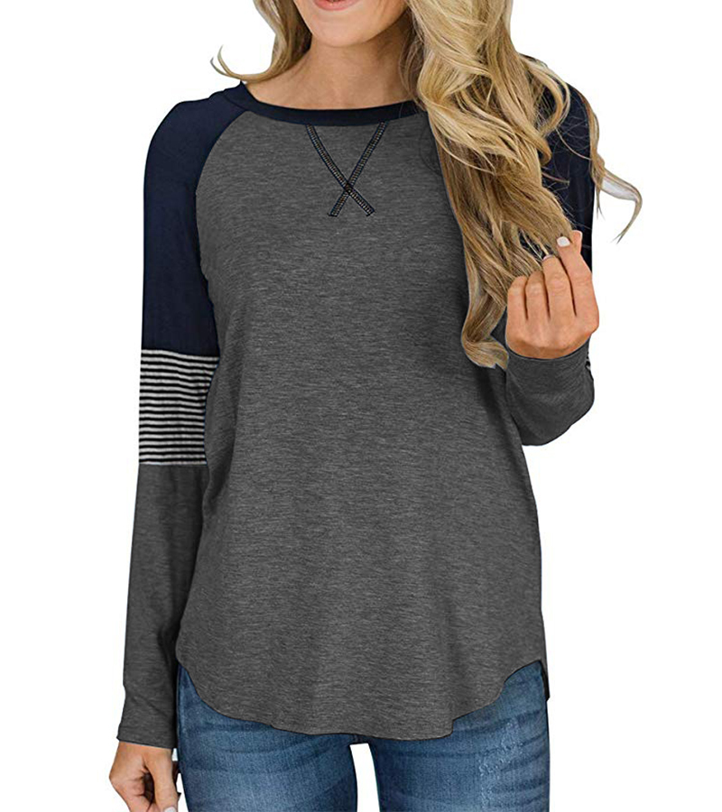 New Long Sleeve T Shirt Women Autumn Winter Round Neck Casual Loose Women T-shirt  Top Tee  Ladies tshirt  Female Clothes 2020 (6)