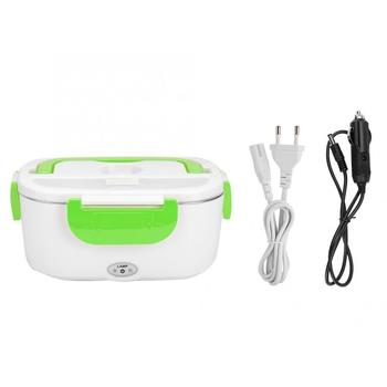 цена на Electric Heating Lunch Box Home Car Dual Use Portable Mini Rice Cooker Thermostat Food Warmer Steamer Container 12V 110V 220V