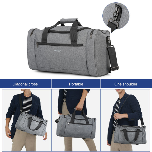 Tigernu 2019 New Large Capacity Travel Bag Men Multifunction Handbag With Shoulder Strap Waterproof High Quality Casual Bag Male 5