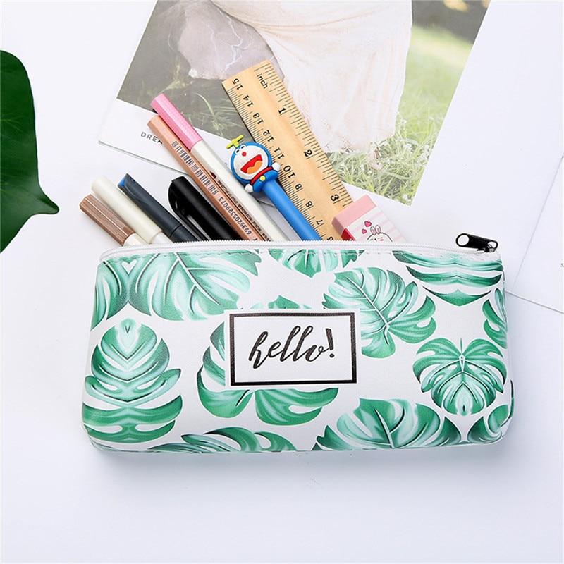 Vogvigo Plant Pencil Case Cosmetic Bag Storage Bag Organiser Canvas Gift Cosmetic Box Pencil Case Bag School Supplies Stationery