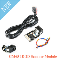 GM65 1D 2D Barcode Reading Board QR Code Scanner Reader Module USB URAT DIY Electronic Kit with Cable Connector CMOS For Arduino