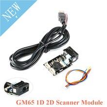 Placa de lectura de código de barras GM65 1D 2D, módulo Lector de escáner de código QR, Kit electrónico USB URAT DIY con conector de Cable CMOS para Arduino