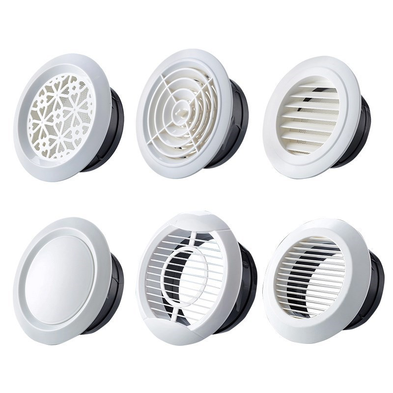 Adjustable Round Plastic Air Ventilation Cover Fan Outlet Vent Extractor Ceiling Hole For Kitchen Bath Air Outlet Fresh System