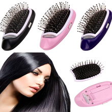 Portable Ionic Hair Brush Magic Electric Comb Tangle Teaser Straightener Scalp Negative Ions Modeling Styling Natural Hairbrush