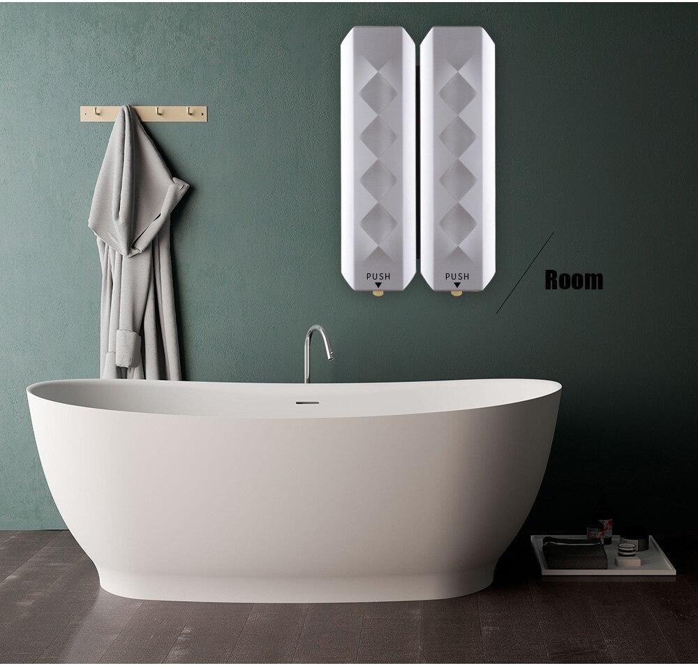 H8fc581c1aba3436bbf8d3dfdb30c6156l Nail Free Wall Mounted Bathroom 350ML Soap Dispenser Mounted Shampoo Liquid Soap Bottle Bathroom Accessories
