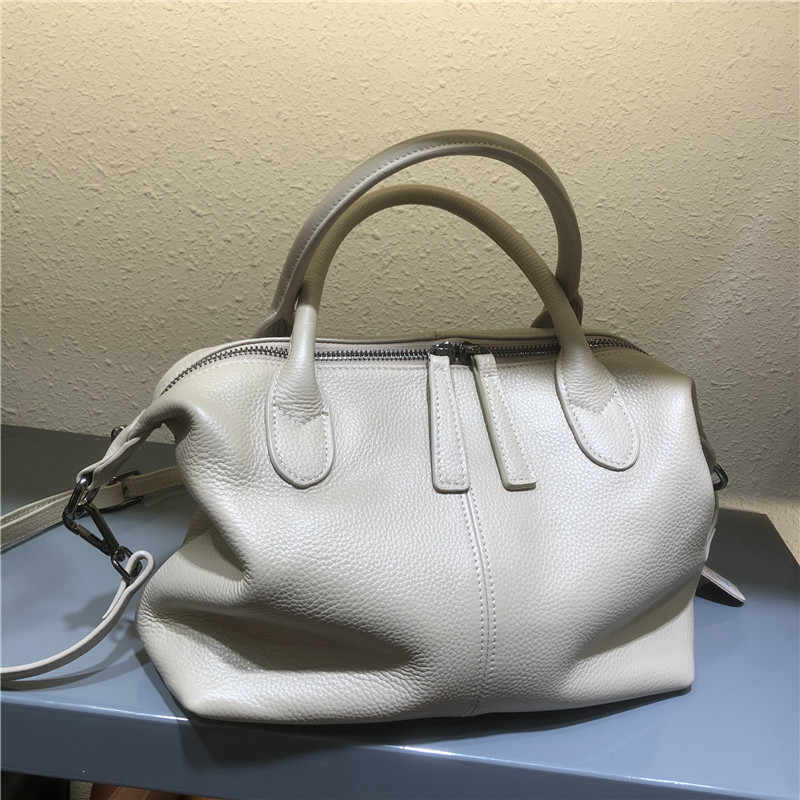 Deluxe Soft Leather Lady Bag 2020 Nieuwe Leisure One-Schouder Lederen Tas