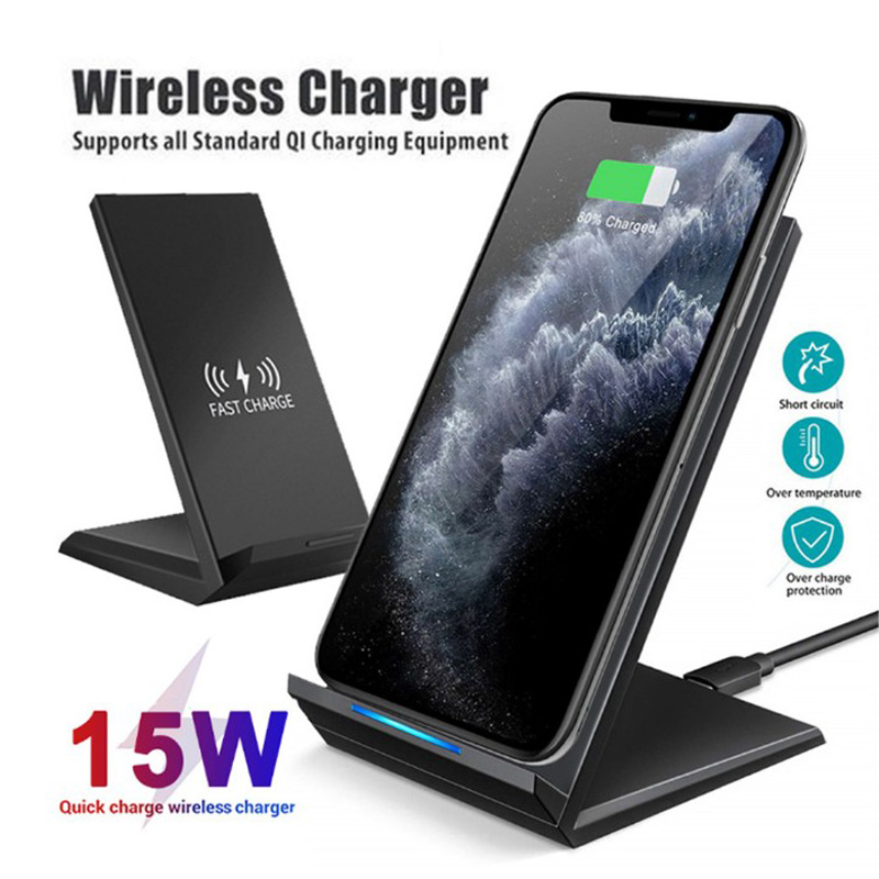 Qi Wireless <font><b>Charger</b></font> 15W Fast Charging Stand Dock For <font><b>Samsung</b></font> <font><b>Galaxy</b></font> A6+ A6s <font><b>A7</b></font> 2018 A8 Plus A9s A9 pro Wireless Phone <font><b>Charger</b></font> image