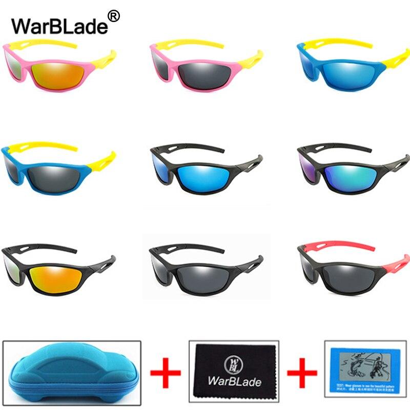 WarBlade-gafas de sol polarizadas para niños, UV400, de silicona, con caja, novedad de 2020