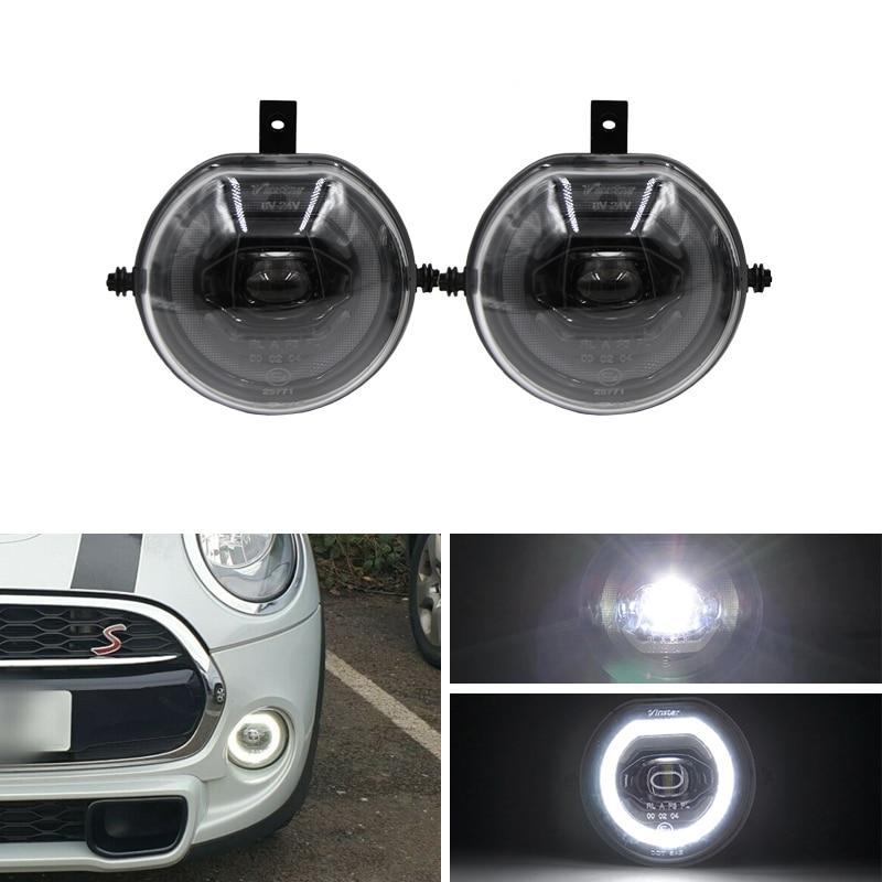 For BMW Mini Cooper F57 S Cabriolet 2014-2018 F55 F56 2013-2018 F54 Clubman 2014-2018 3-in-1 Led Parking DRL Fog Light Kits