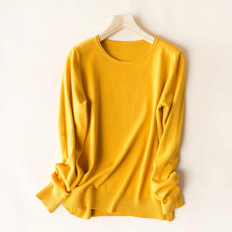 Johnature 여성 풀오버 스웨터 12 색 캐주얼 니트 모리 걸 옷 2020 봄 새로운 긴 소매 슬림 한국어 스타일 스웨터