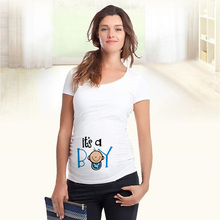 Maternity-Clothes Shirts Funny Women Pregnancy Casual Cute Cartoon with Hot