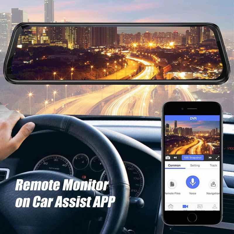 """Mobil DVR A980 4G Android 8.1 Adas 10 """"Stream Media Dash Cam Kamera Mobil Kamera Perekam DVR Dashcam gps Navigasi 1080P Wifi"""