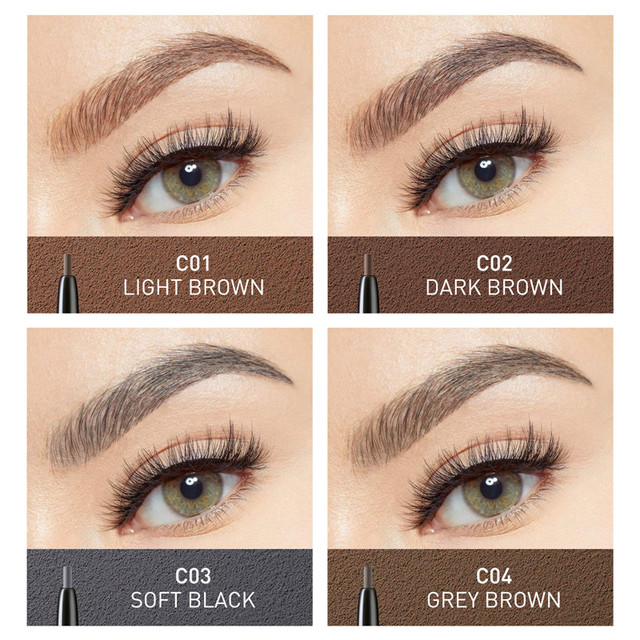 STAGENIUS Eyebrow Pencil Tint Eye Makeup Round Head Long Lasting Waterproof Natural Microblading Eyebrow Pencil Gray Brown 2