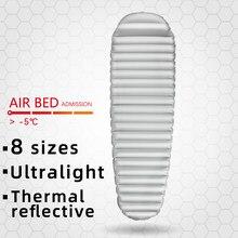 Acampamento almofada de dormir esteira ultraleve colchão inflável na cama dobrável portátil viagem caminhadas trekking ar mate