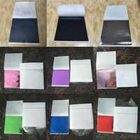 100pcs 9x9cm Art Craft Paper Imitation Multicolor Copper Leaf Leaves Sheets Foil Paper for Gilding DIY Craft Decoration