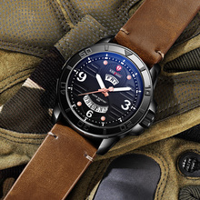 KADEMAN Top Brand Trends Mens Watch relogio masculino Leather Strap Waterproof Large Dial Calendar Quartz Men reloj hombre