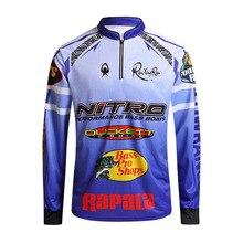 Рыбалка Костюмы для Для мужчин летние дышащие сухой с защитой от УФ лучей спортивная человек Открытый Рыбалка рубашки для мальчиков