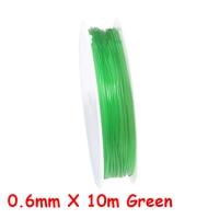 0.6mm X 10m Green