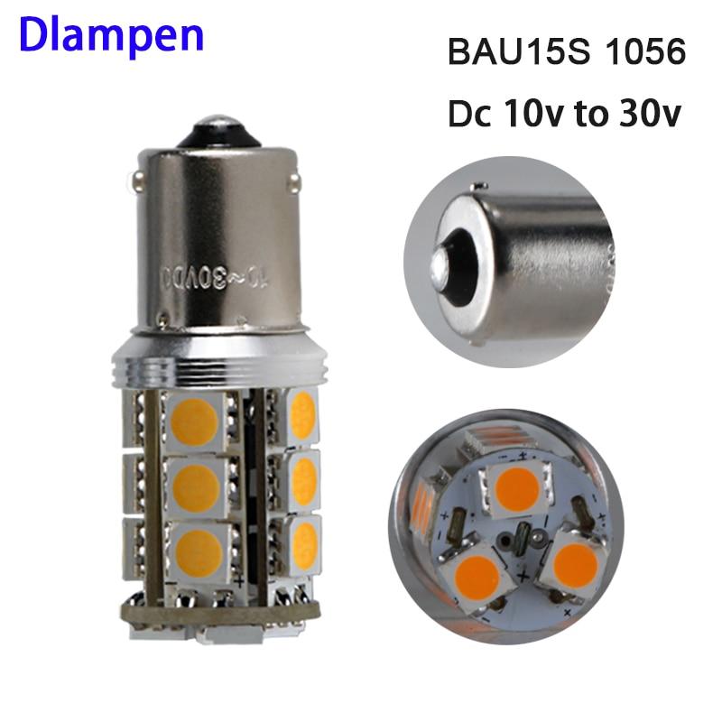 lampadina led light PY21W S25 1056 BAU15S Amber / yellow 4W 12V 24v auto track Exterior Lights Direction Indicator bulb lamp