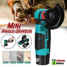 Angle-Grinder-Machine Power-Tool Cordless-Cutter Grinding-Cutting Lithium-Battery Wood