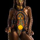 African Print Swimwe...