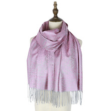 fashion scarf woven shawl pashmina mujer capes jacquard hijabs winter kashmir paisley hijab femme muffler stole wraps tippet