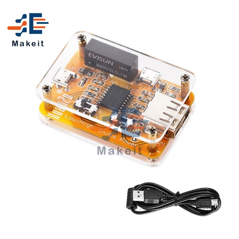 1500v adum4160 usb ao módulo do isolador de usb sinal de isolamento de segurança digital linha protetor de áudio módulo eliminador de ruído com caso