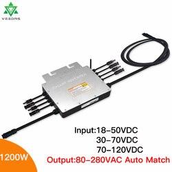 محول شبكة شمسية 1200 وات IP65 MPPT محول صغير مربوط 24 فولت 110 فولت 220 فولت منظم Inversor صغير 50-60 هرتز لأنظمة الطاقة الشمسية على الشبكة