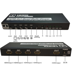Image 2 - 4x1 HDMI Quad Screen Multiviewer HDMI seamless switcher HDMI multivierer screen splitter 1080P HD IR HDMI Switch