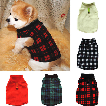 Warm Fleece Dog Clothes Pet Clothing For Small Medium Dogs Vest Shirt Printed Puppy Dog Costume Pullover Chihuahua Ropa Perro image