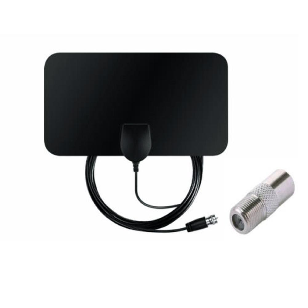 ABS 50 Miles TV Signal Receiver Range Indoor High Gain 20dBi DVB-T2 Digital 1080P HD TV Antenna Aerial F-Head With IEC Adapter