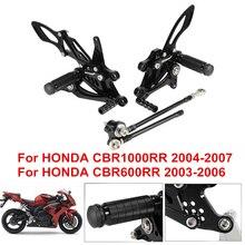Pedane moto pedane CNC pedane posteriori pedane per Honda CBR600RR 2003 2004 2005 2006 CBR 600 RR CBR600 RR CBR1000 D45