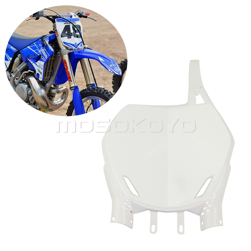 Front Number Plate White 2002 Yamaha YZ426F Offroad Motorcycle