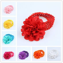 Newly Newborn Flower Wide Hollow Elastic Hair Band Kids Baby Headbad Hair Accessories Photography Props IR-ing(China)