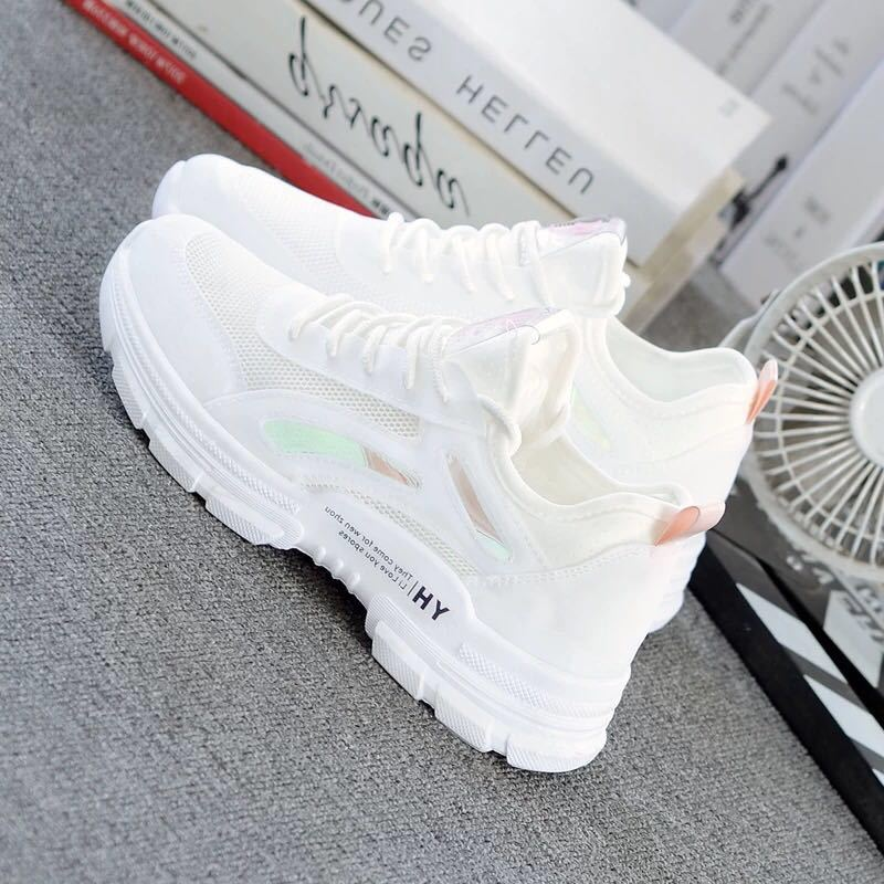 Fashion Women's Shoes Summer New Casual Classic Solid Color Mesh Breathable Women Casual White Shoes Sports Shoes