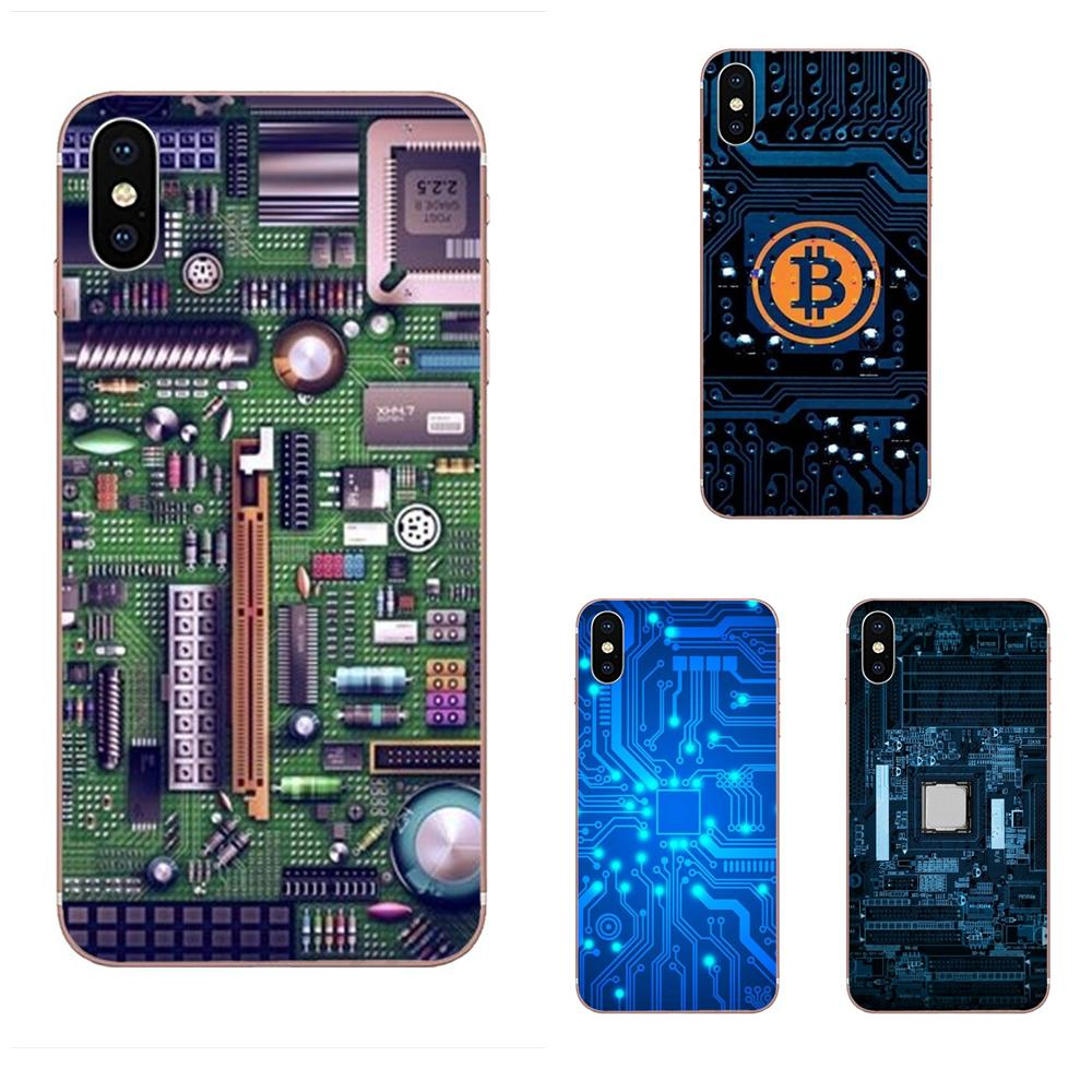 Technology Circuit <font><b>Motherboard</b></font> Cover Case For Motorola G G2 G3 G4 G5 G6 G7 Plus For <font><b>Xiaomi</b></font> <font><b>Redmi</b></font> <font><b>Note</b></font> 8 8A 8T 10 K30 5G Pro image
