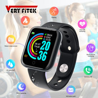 D20 Pro Smart Watch Y68 Bluetooth Fitness Tracker Sports Watch Heart Rate Monitor Blood Pressure Smart Bracelet for Android IOS 1